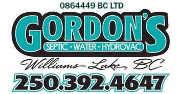Gordon's Septic, Water & HydroVac Logo