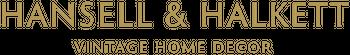Hansell & Halkett vintage home decor Logo